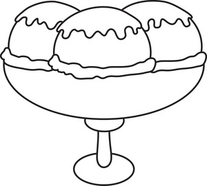 300x270 Ice Cream Sundae Clip Art Black And White Cliparts