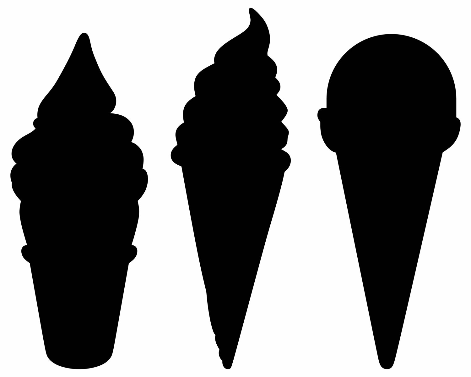 1500x1200 Ice Cream Clipart Silhouette