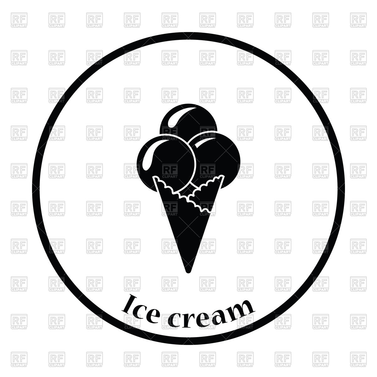 1200x1200 Silhouette Of Ice Cream Cone Royalty Free Vector Clip Art Image