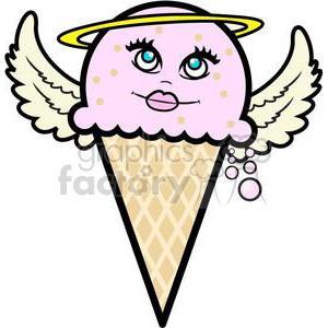 300x300 Royalty Free Angel Ice Cream Cone 381648 Vector Clip Art Image