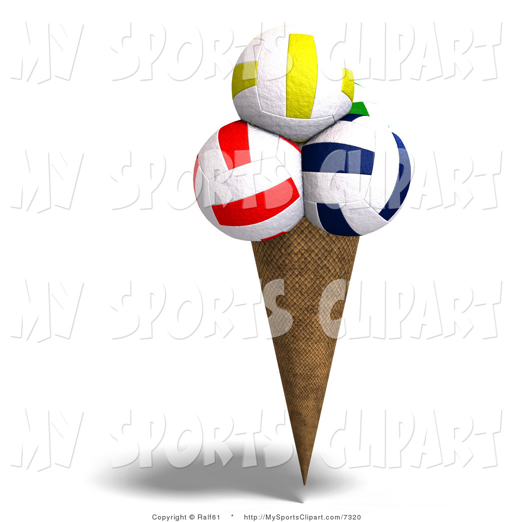 1024x1044 Sports Clip Art Of A Volleyball Ice Cream By Ralf61