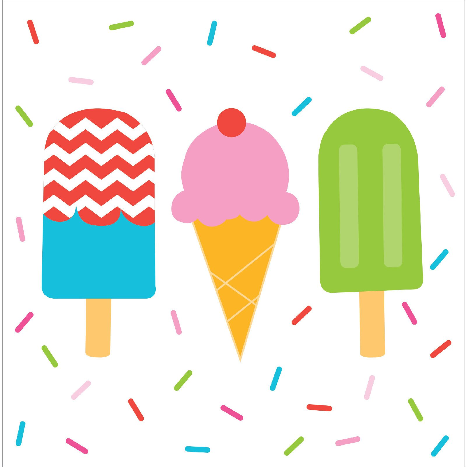 1598x1600 Ice Cream Party Lunch Napkins