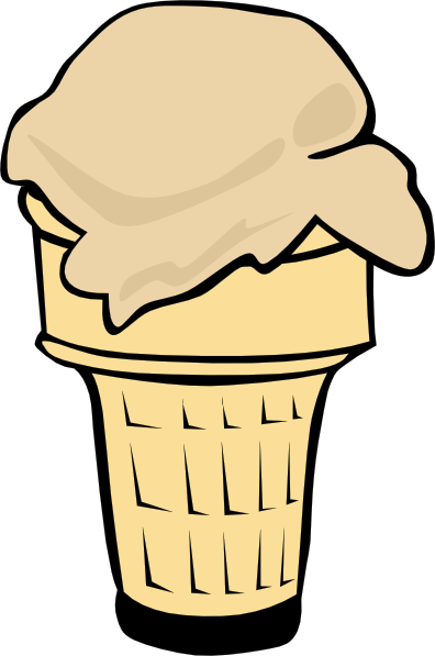 396x597 Ice Cream Cone (1 Scoop) Clip Art Free Vector 4vector