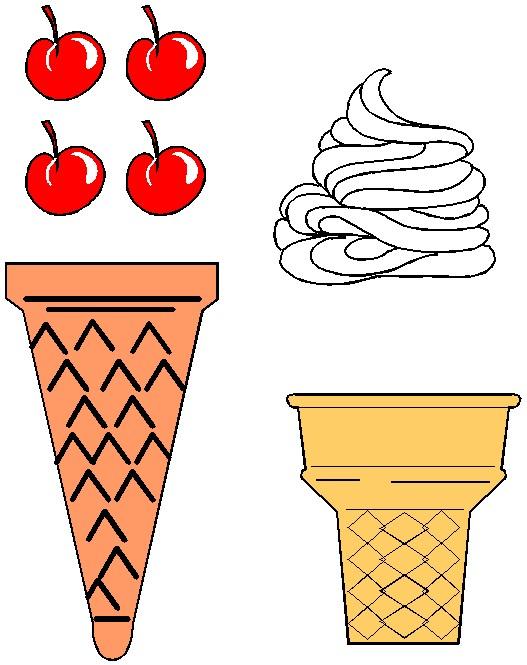 527x665 Ice Cream Cone Printable