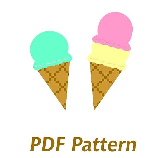 570x534 Ice Cream Cone Template Pdf
