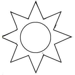 300x300 Printable Sun Patterns Sun Template. You Can Use ( X