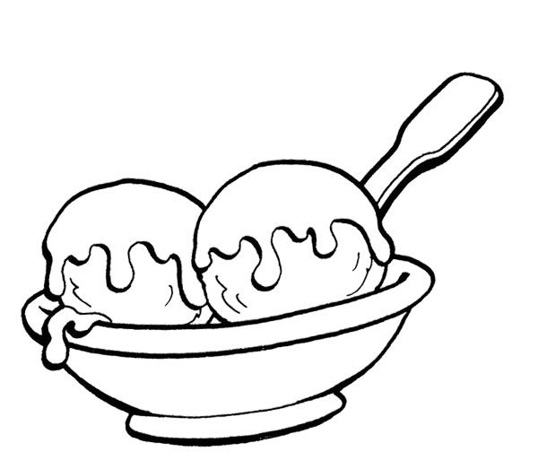 Ice Cream Scoops Template