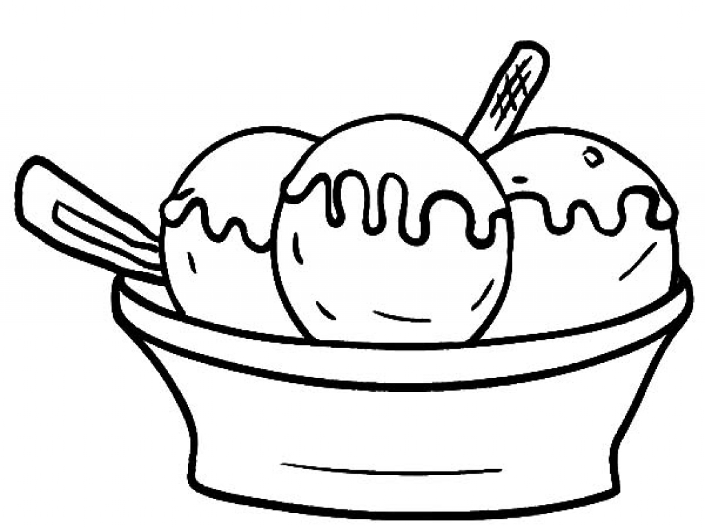 Ice Cream Scoops Template Free