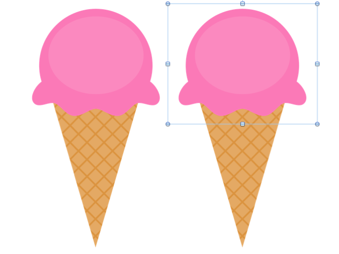 Ice cream cone printable. Scoops template free download