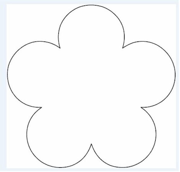 595x569 Flower Template Svg Cut Files