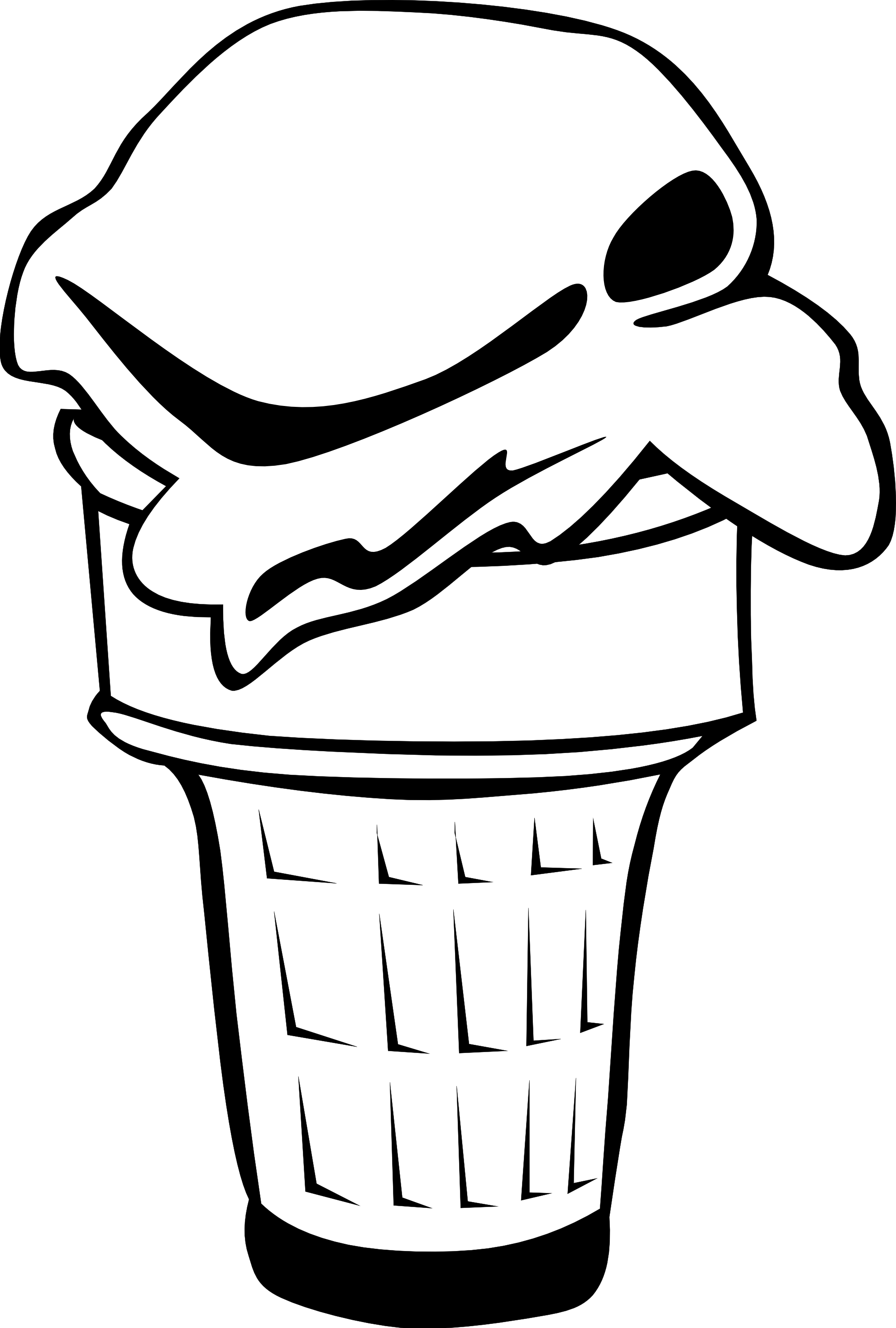 1979x2931 Ice Clipart Black And White