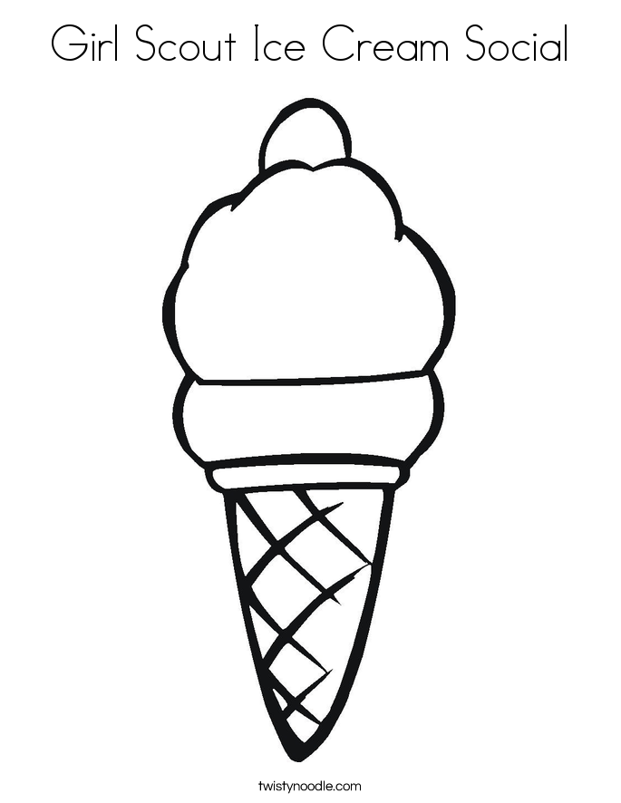 685x886 Girl Scout Ice Cream Social Coloring Page