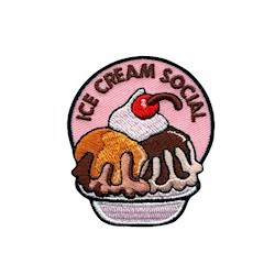 250x250 Ice Cream Social Fun Patch