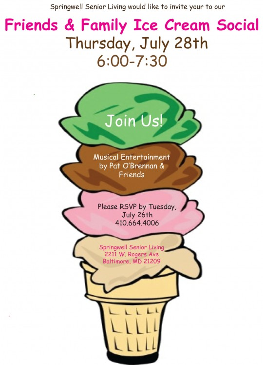 540x748 Join Us For An Ice Cream Social July 28th! Springwell Senior Living