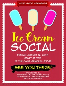 218x282 Customizable Design Templates For Ice Cream Social Postermywall