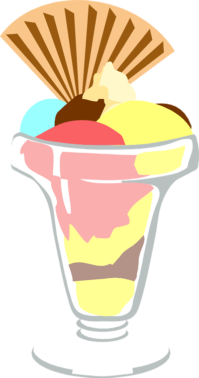 400x758 Ice Cream Sundae Border