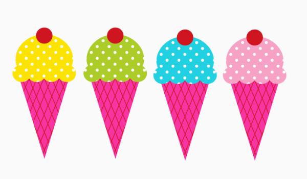 600x351 Ice Cream Border Clipart