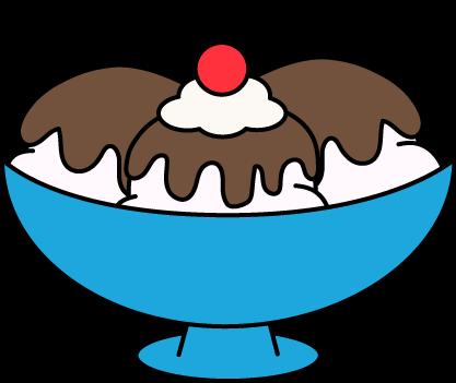 417x351 Hot Fudge Sundae Clip Art