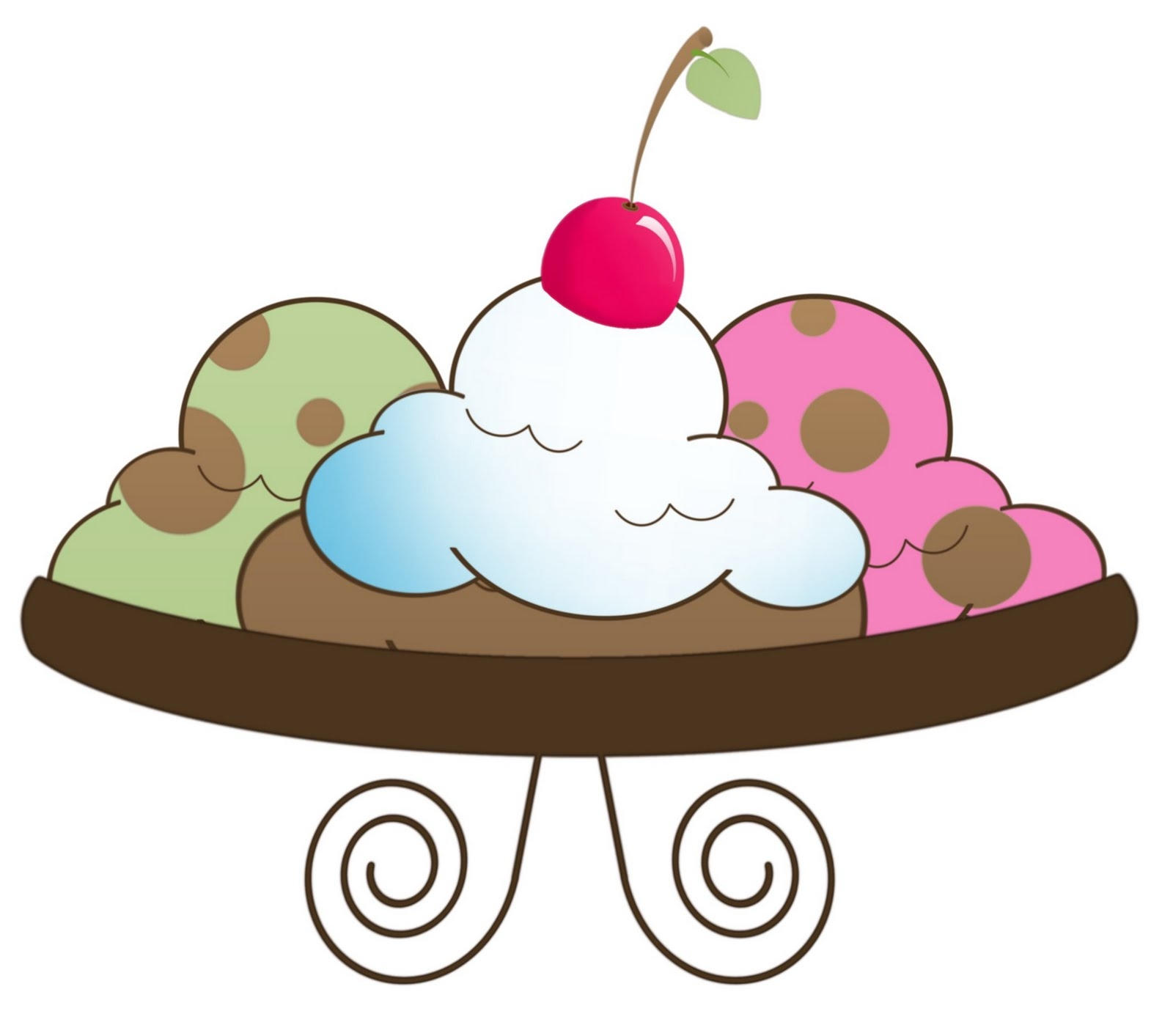 1600x1413 Ice Cream Sundae Clipart Free