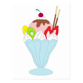 324x324 Ice Cream Sundae Postcards Zazzle