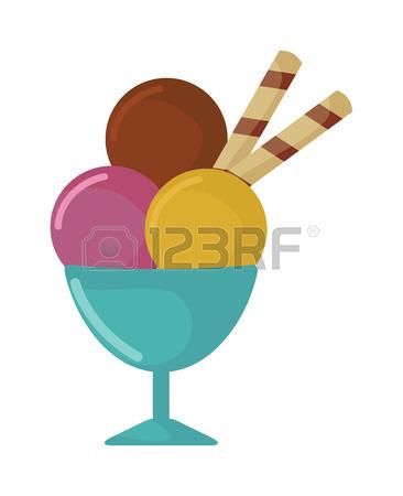 366x450 Ice Cream Cup Cartoon Vector Food Illustration. Sundae Ice Cream