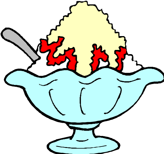 546x512 Ice Cream In A Bowl Clipart