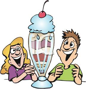 290x300 Boy And Girl Smiling At An Ice Cream Sundae