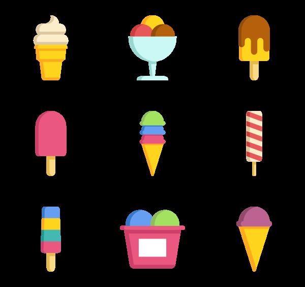 600x564 Ice Cream Icons