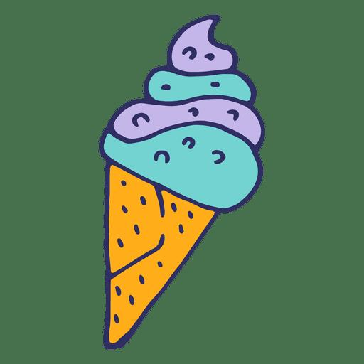 512x512 Ice Cream Cartoon Illustration
