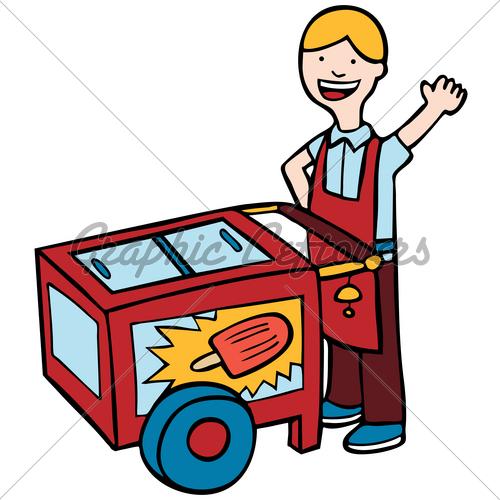 500x500 Ice Cream Cart Clipart