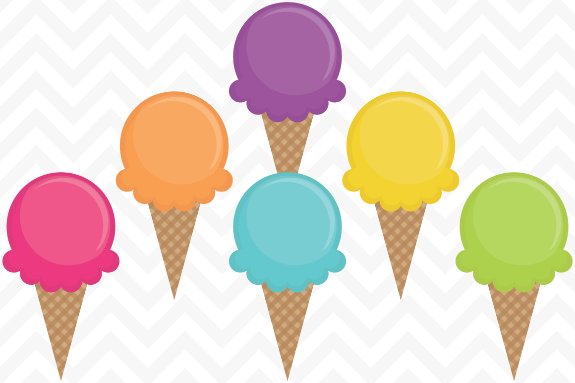 1160x772 Clip Art Waffle Cone Ice Creams By Sonya Dehart Design