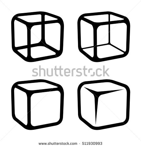 450x470 Ice Cube Clipart Black And White