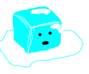 300x250 Ice Cube Clip Art Person
