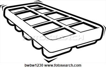 350x229 Ice Cube Tray Clipart