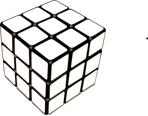 600x472 Rubiks Cube White Clip Art