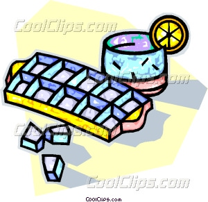 300x291 Ice Cube Tray With A Glass Vector Clip Art