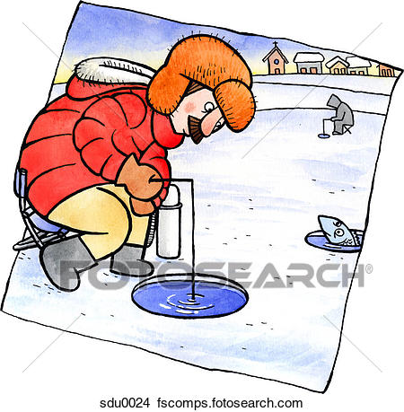 450x459 Ice Fishing Illustrations And Clipart. 486 Ice Fishing Royalty