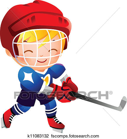 430x470 Clip Art Of Cartoon Girl Playing Ice Hockey K17560967