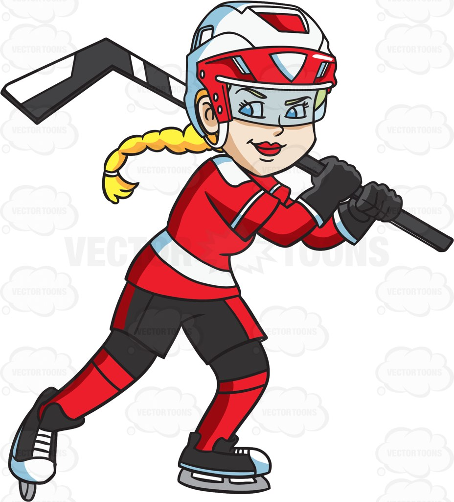 928x1024 Girl Clipart Hockey Player