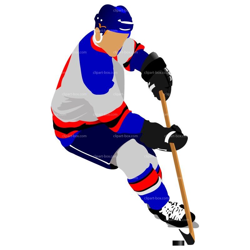 800x800 Hockey Player Clip Art