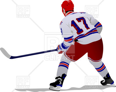 400x316 Standing Ice Hockey Player
