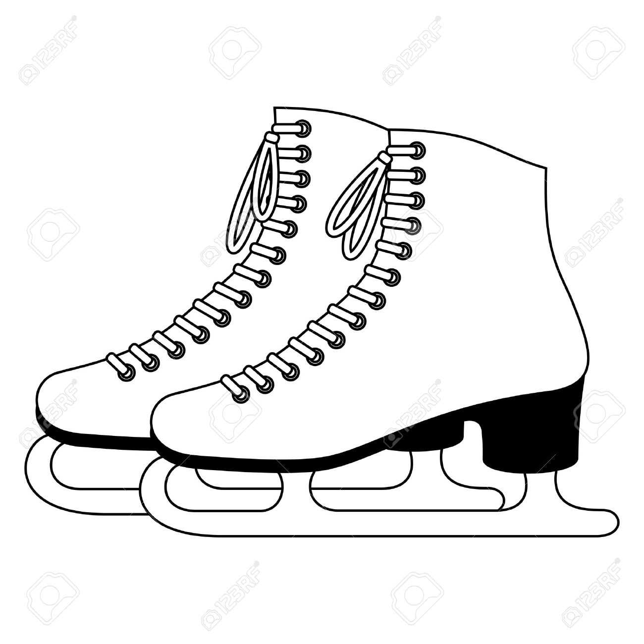 1300x1300 Ice Skates Royalty Free Cliparts, Vectors, And Stock Illustration