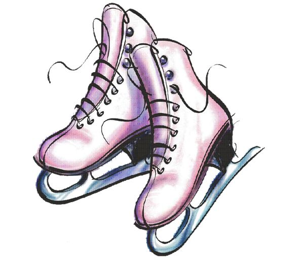 600x512 8 Best Cards Ice Skates Images Artists, Christmas