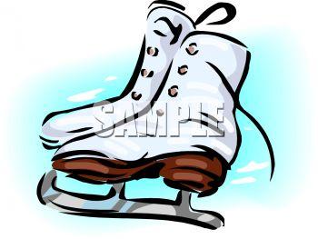 350x263 Royalty Free Clipart Image Women's Ice Skates