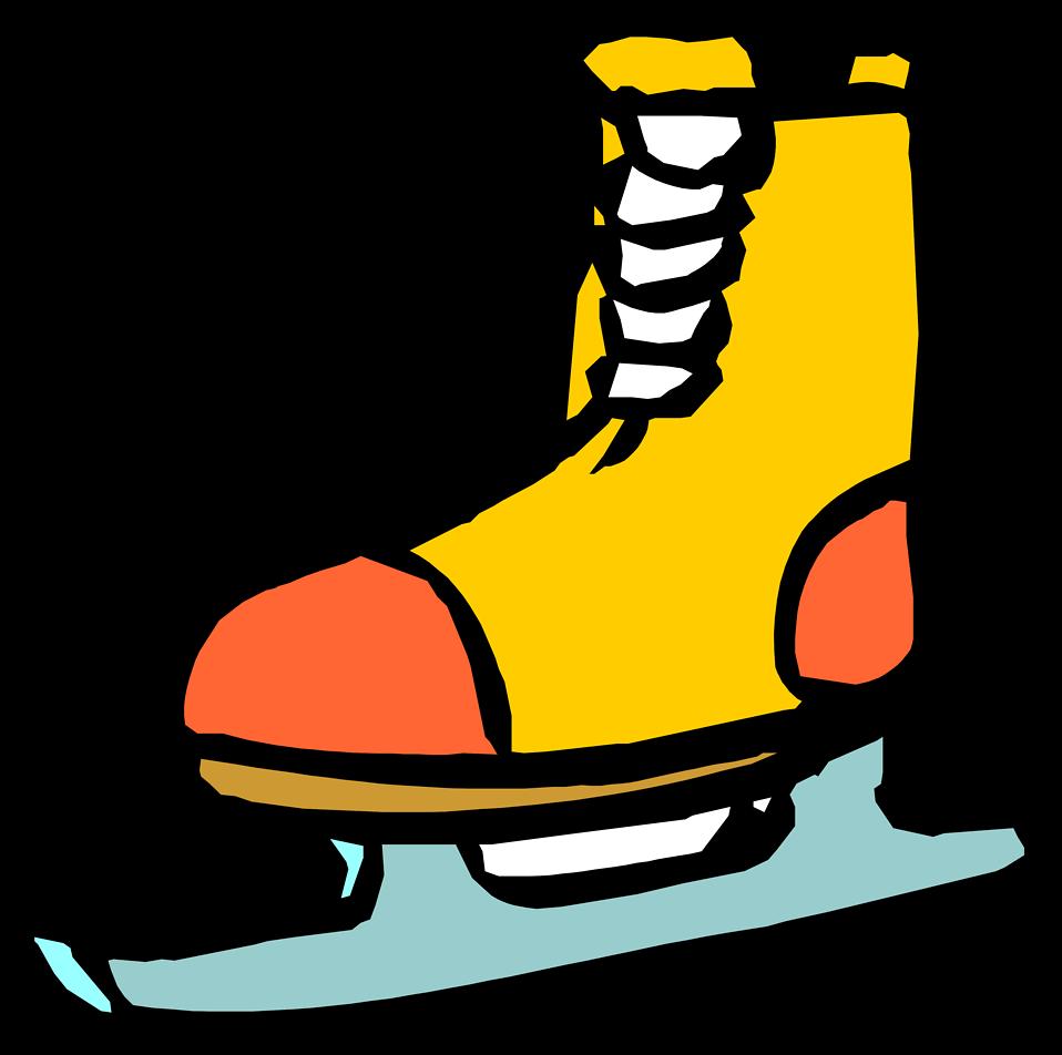 958x952 Ice Skate Free Stock Photo Illustration Of An Ice Skate