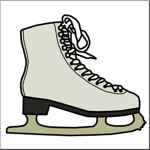 304x304 Clip Art Ice Skate Color I Abcteach