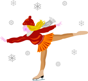 300x277 Ice Skating Clip Art
