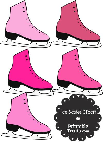 400x550 Pink Ice Skates Clipart Printable
