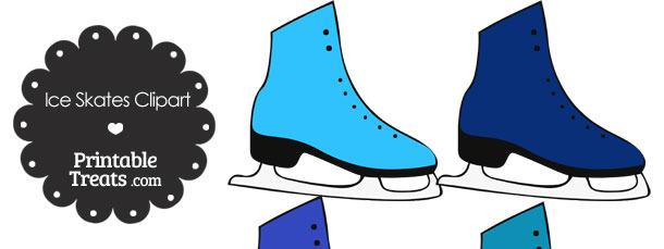 610x229 Blue Ice Skates Clipart Printable