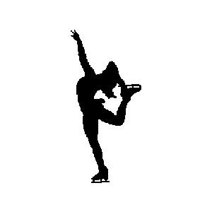 300x300 Figurine Clipart Figure Skater